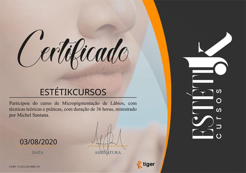Certificado Lábios