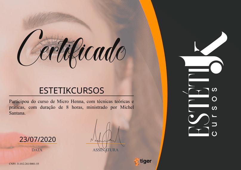 Certificado Micro Henna