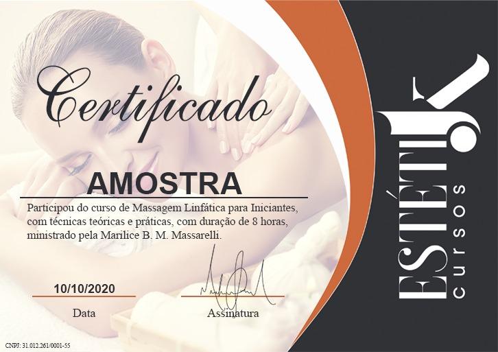 Certificado - (Massagem Linfática) PV