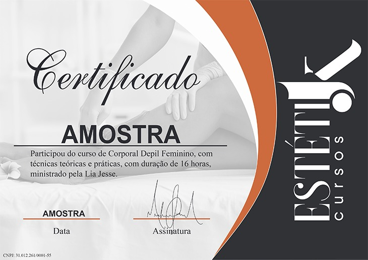 Certificado (Corporal Depil Feminino) [PV]